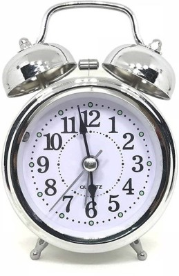 Maxel Analog Silver Clock