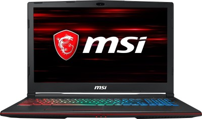 MSI GP Core i7 8th Gen - (16 GB/1 TB HDD/256 GB SSD/Windows 10 Home/6 GB Graphics) GP63 Leopard 8RE -442IN Gaming Laptop