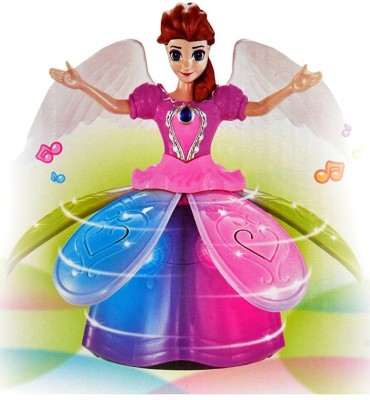 ElectroBot Best Cute Princess Dancing Doll & Rotating Angel Girl Flashing Lights with Music Gift Toy For Kids,Baby ,Childrens.