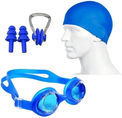 LIVE SPORTS swimming kit with cap, goggle, 2 pair ear plugs and 1 nose clip combo Swimming Cap