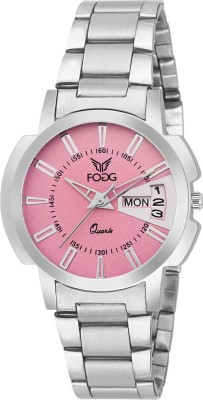 Fogg 4054-PK Day and Date Watch  - For Women