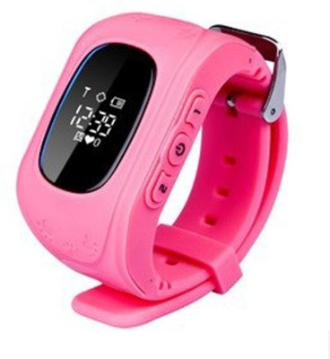 MOBILE FIT Lenovo PINK babay smartwatch Music Compatible Children Kids Baby GPS Tracker Satellite Monitor SOS Phone Call Smart Watch Android Q50 by MOBILE FIT PINK Smartwatch