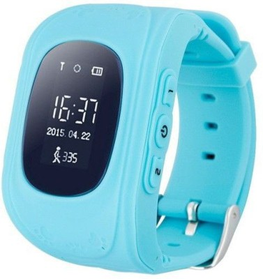 MOBILE FIT BLUE baby smartwatch with wifi : SOS GPS Smart watch Q50 smart baby kids phone watch Touch Screen GPS WIFI Positioning Location Finder Device Anti Lost Monitor BLUE Smartwatch