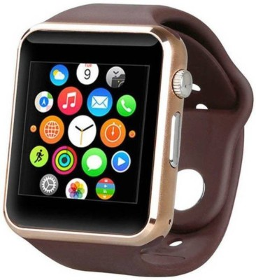 EWELL Galaxy J7 (2017) Compatible Smart Watch For Men 4g Phones Compatibility Original Smartwatch Wristwatch Mobile with Camera & SIM Card Support New Arrival Best Selling Premium Quality Lowest Price Apps like Facebook Whatsapp Twitter Functions Time Schedule Read Message News Sports Health Pedometer Sedentary Remind Sleep Monitoring Better Display Loudspeaker Microphone TouchScreen Multi-Language Micro SD Memory Card Supports All Android and IOs iPhone Smartphone golden Smartwatch (Brown Strap free) golden Smartwatch