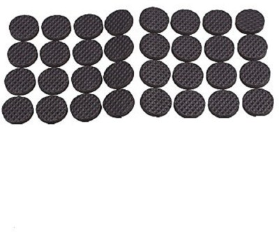 Iktu Self Adhesive Round Felt Pads Non Skid Floor Protector Furniture Sofa Furniture Chair Balance Pad Noise Insulation Pad Floor Bumper - 38mm (32 Pieces) Adhesive
