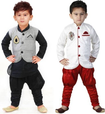 FTC FASHIONS Boys Festive & Party Kurta, Waistcoat and Pyjama Set