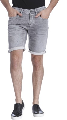 Jack & Jones Solid Men's Grey Regular Shorts