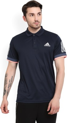 ADIDAS Varsity Men Polo Neck Dark Blue T-Shirt
