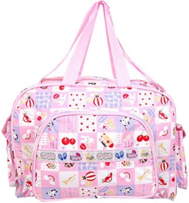 Guru Kripa Baby Products ™ New Born Baby Multypurpose Mother Bag With Holder Diapper Changing Multi Comprtment For Baby Care And Maternity Handbag Messenger Bag Diaper Nappy Mama Shoulder Bag Diaper Bag For Baby Multipurpose Waterproof Mother Bag Diaper Bag (Pink) Diaper bag