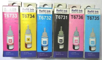 Refill Ink Epson L800 L805 L810 L850 1800 Multi Color Ink Cartridge