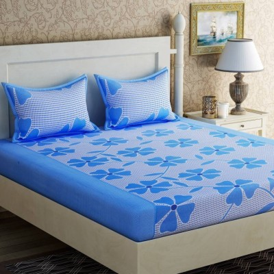 the fresh livery 104 TC Polycotton Double Floral Bedsheet