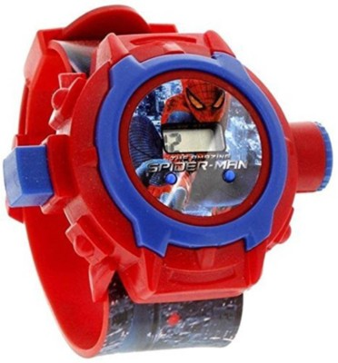 SD SHOP Spider-Man Projector SD,0-76 Kids Digital Watch  - For Boys