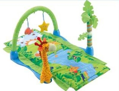 TEENA EXPORTS AND IMPORTS TEENA EXPORTS & IMPORTS 3 In 1 Baby Under The Sea Musical Activity Gym Play Foam Mat Carpet - Multi Color