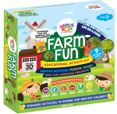 Genius Box Learning and Educational Toys for Children: Farm Fun Activity Kit / Educational Kit / Learning Toy / STEM