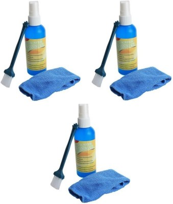 Teratech (Pack of 3) Cleaning Kit for Cameras,Led Tv,Lcd ,Tablet and Sensitive Electronics with Micro Fiber Cloth and Brush for Computers, Laptops, Mobiles