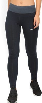 Nike Solid Women's Blue Tights