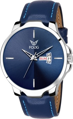 Fogg 1145-BL Blue Day and Date Watch  - For Men