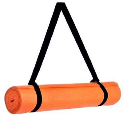 Quick Shel 100% EVA Eco Friendly Mat, Exercise & Gym Mat With Yoga Strap Orange 4 mm Yoga Mat