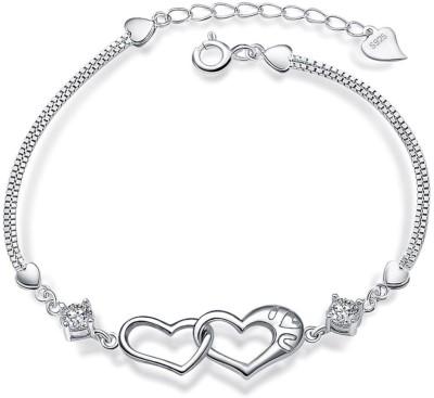 Silver Shoppee Sterling Silver Cubic Zirconia Sterling Silver Bracelet