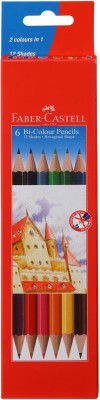 Faber-Castell 6 Bi Colour Pencils Pencil