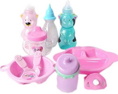 Generic Baby Doll Accessories Pacifier Bowl Milk Bottle Mug Spoons Feeding Sets