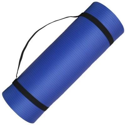 Quick Shel 6MM 100%EVA Eco Friendly Mat BLUE 6mm Yoga, Exercise & Gym Mat With Yoga Strap Blue 6 mm Yoga Mat