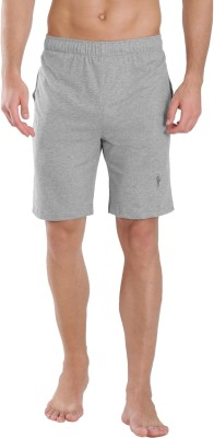 Jockey Solid Men Grey Basic Shorts