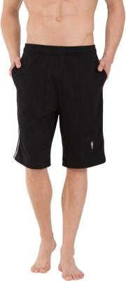 Jockey Solid Men Black Regular Shorts