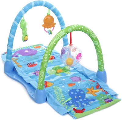 Emob Aquarium Ocean Theme Kick and Crawl Activity Play Mat Gym for your Little One
