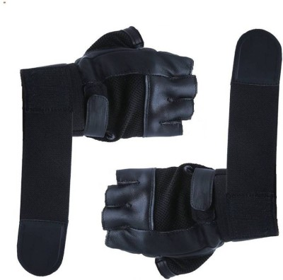 Cp Bigbasket Gym Gloves / Sports Gloves / Fitness Gloves/ Training Gloves / Exercise Gloves / Weight Lifting Gym & Fitness Gloves (Free Size, Black)
