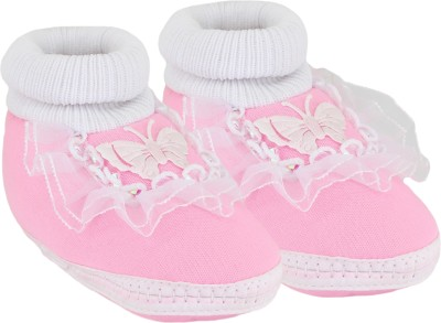 Neska Moda Butterfly 0 To 12 Month Baby Frill Booties