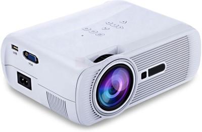 Punnkk P7 1800 Lumen Full HD 1080P LED LCD Home Theater Projector With HDMI, VGA, USB & AV Projector