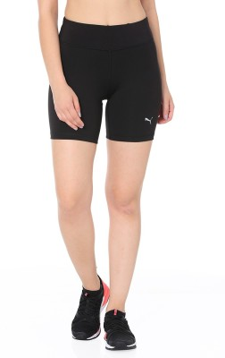 Puma Solid Women Black Sports Shorts