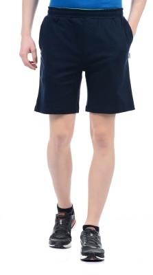 Hanes Solid Men's Dark Blue Basic Shorts