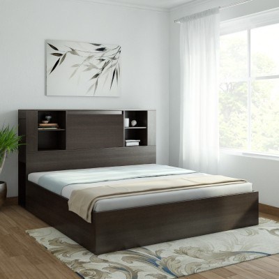 Crystal Furnitech Claris Charger Bed Engineered Wood King Box Bed