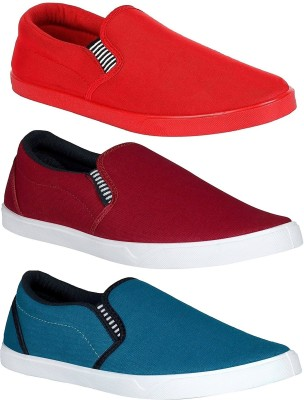 Chevit Combo Pack of 3 Casual Shoes (Loafers and Mocassins) Loafers For Men