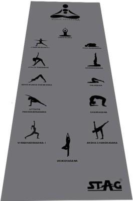 Stag Yoga Mantra ASANA Grey 6 mm Yoga, Gymnastic, Exercise & Gym Mat
