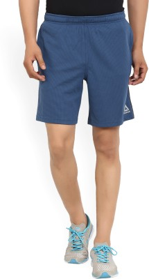 REEBOK Self Design Men's Blue Sports Shorts