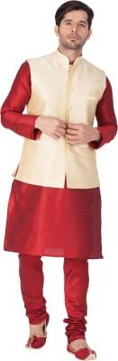 Vastramay Men Kurta, Ethnic Jacket and Pyjama Set