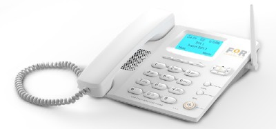for brighter life F1+GSM FIXED WIRELESS PHONE (WHITE) Corded Landline Phone
