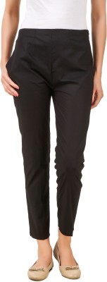 Q-Rious Slim Fit Women Black Trousers