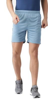 2GO Solid Men Blue Sports Shorts