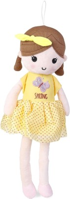 My Baby Excel Plush Doll Yellow with Bow 45 cm  - 45 cm