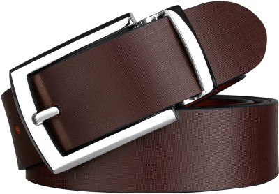 ZORO Men Party, Formal, Casual Brown Genuine Leather Belt