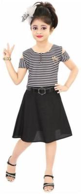 Jio Fashion Girls Midi/Knee Length Party Dress