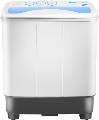 Midea 6.5 kg Semi Automatic Top Load Washing Machine White