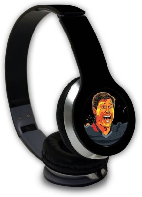 Macmerise Splash Illustration Chris - Wave Wired On Ear Headphones Wired Headset with Mic