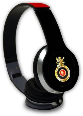 Macmerise Play Bold RCB Logo - Wave Wired On Ear Headphones Wired Headset with Mic