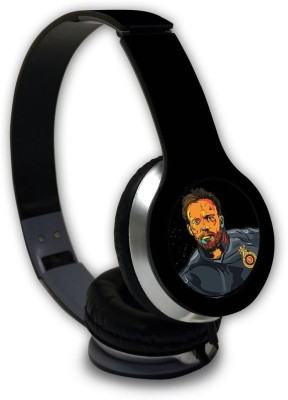 Macmerise Splash Illustration ABD - Wave Wired On Ear Headphones Wired Headset with Mic