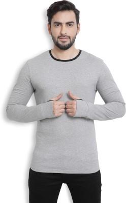 Billion PerfectFit Solid Men Round Neck Grey T-Shirt